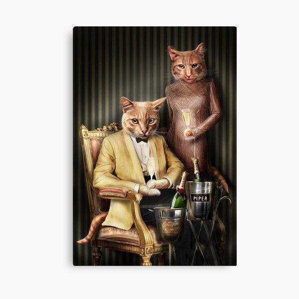 Cat Portrait - Moet and Piper Canvas Print