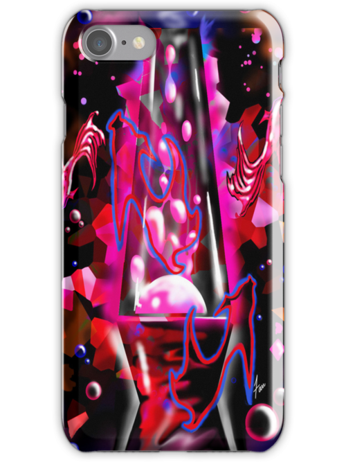 """""""Pink Lava Fishies""""~iPhone case by Steve Farr"""