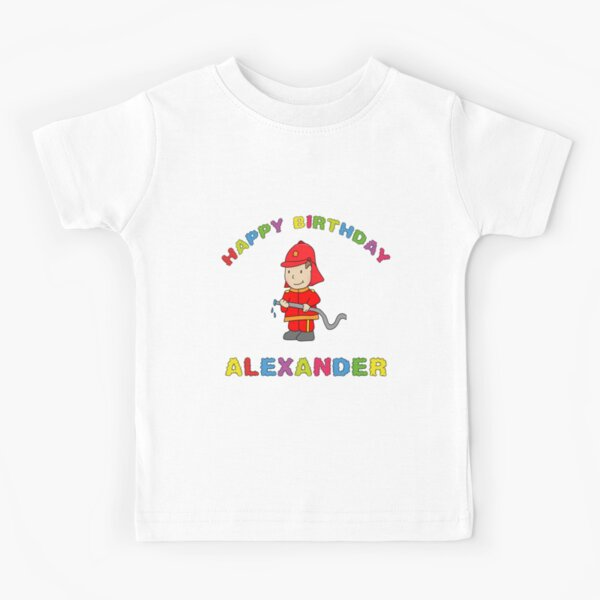 Kindergeburtsatg Birthday Happy Birthday Alexander Junge Kind Kids T-Shirt