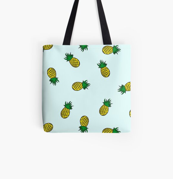 Pineapple All Over Print Tote Bag