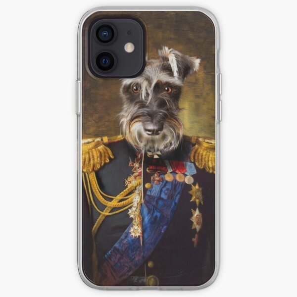 Schnauzer Dog Portrait - Elliott iPhone Soft Case