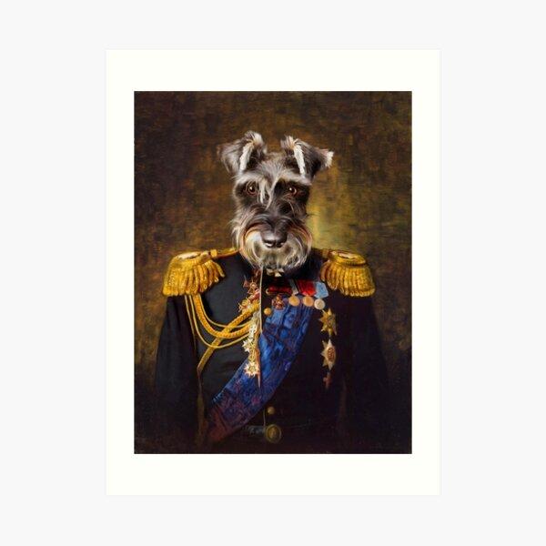 Schnauzer Dog Portrait - Elliott Art Print