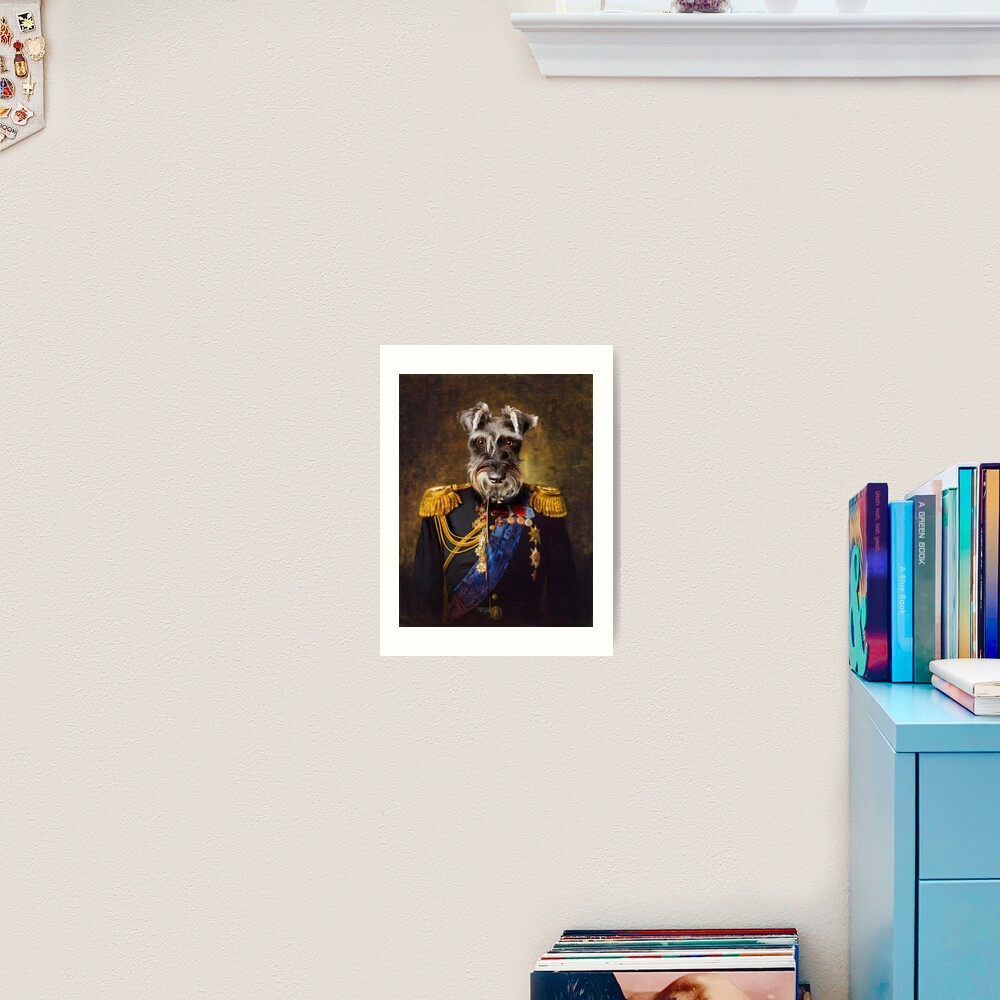 Schnauzer Dog Portrait - Elliott Art Print