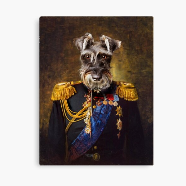 Schnauzer Dog Portrait - Elliott Canvas Print