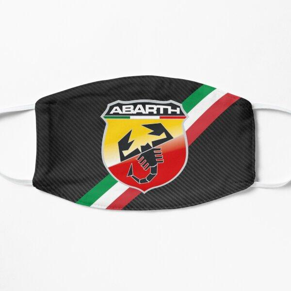 Logo de rayures Italie en fibre de carbone Abarth Masque sans plis