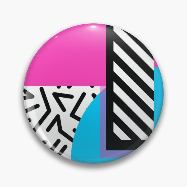 Colorful Retro Memphis Abstract Pin