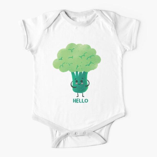 Cute Broccoli  Short Sleeve Baby One-Piece