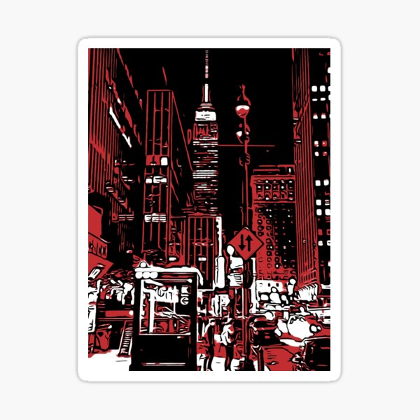 New York at night, Empire State Building  Sticker