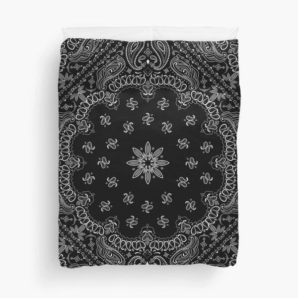 Black Bandanna Pattern Duvet Cover