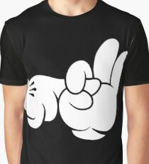 Funny Fingers. Graphic T-Shirt