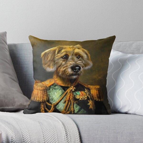 Dog Portrait - Doogle Throw Pillow
