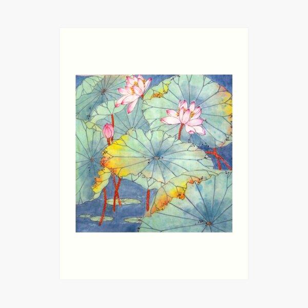 Lotus Glamour Art Print