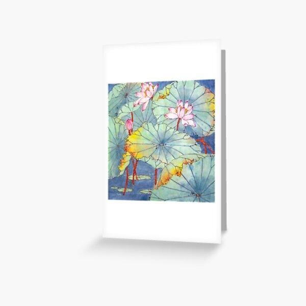 Lotus Glamour Greeting Card