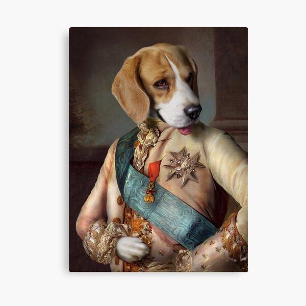 Beagle Dog Portrait - Louis Canvas Print