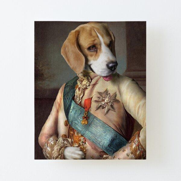 Beagle Dog Portrait - Louis Canvas Mounted Print