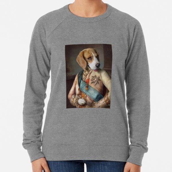 Beagle Dog Portrait - Louis Lightweight Sweatshirt