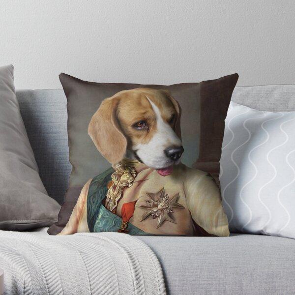 Beagle Dog Portrait - Louis Throw Pillow