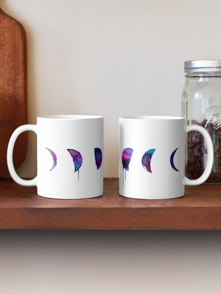 Quot Moon Phases Ink Painting Quot Mug By Theduocreative Redbubble