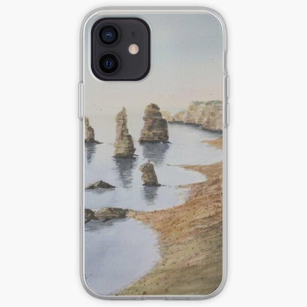 Watercolor. Twelve apostles, Australia iPhone Soft Case