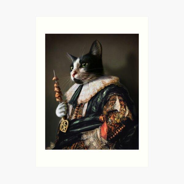 Cat Portrait - Carter Von Sexy Pants Art Print