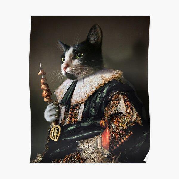Cat Portrait - Carter Von Sexy Pants Poster