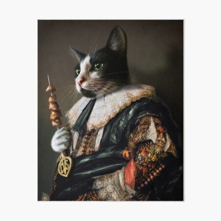 Cat Portrait - Carter Von Sexy Pants Art Board Print