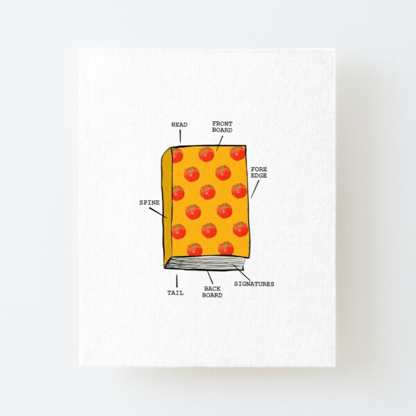 Book anatomy Canvas Mounted Print