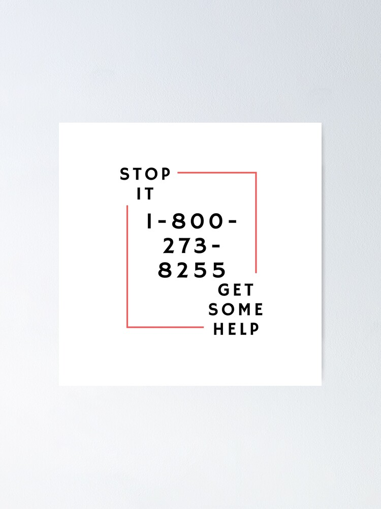 Logic 1 800 Roblox 1 800 273 8255 By Logic Stop It Get Some Help Poster By Carlourful Redbubble