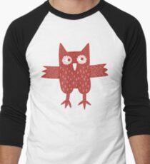 Red Owl Men's Baseball ¾ T-Shirt
