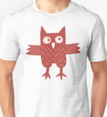 Red Owl Illustration Unisex T-Shirt