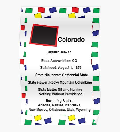 Colorado Information Educational Poster