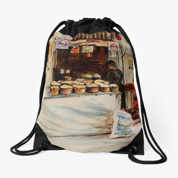 African corner store Drawstring Bag