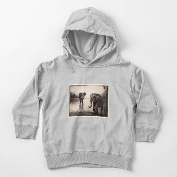 African Elephants at Sunset Toddler Pullover Hoodie