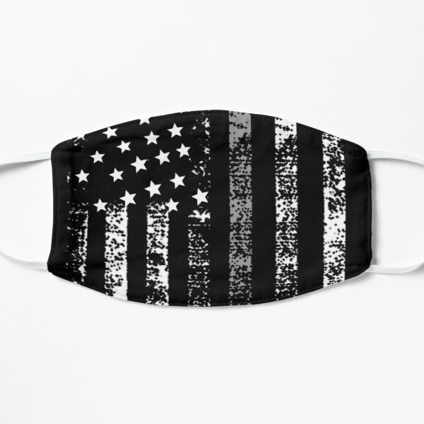 Thin Silver Line US Flag Correctional Officers Prison Officer Mask