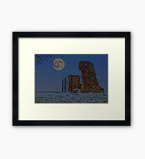 Moonlit Mill Framed Print