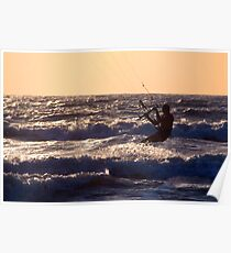 Kitesurfing at Arambol Poster