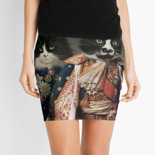 Cat Portrait - Michael and Hero Mini Skirt