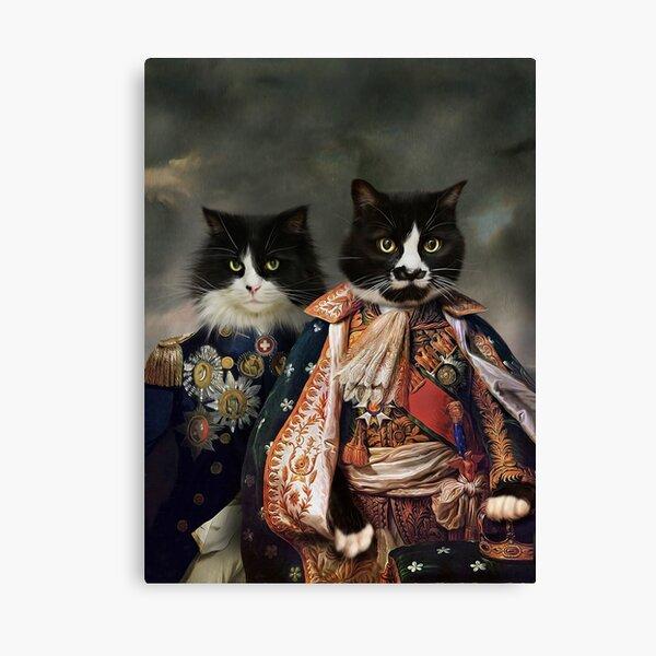 Cat Portrait - Michael and Hero Canvas Print