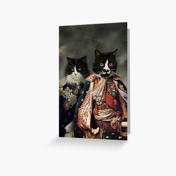Cat Portrait - Michael and Hero Greeting Card