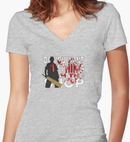 Shaun of the Dead Women's Fitted V-Neck T-Shirt