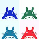 Warhol Totoro by Ednathum