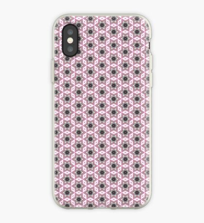 Pink and black kaleidoscope stars pattern iPhone case iPhone Case