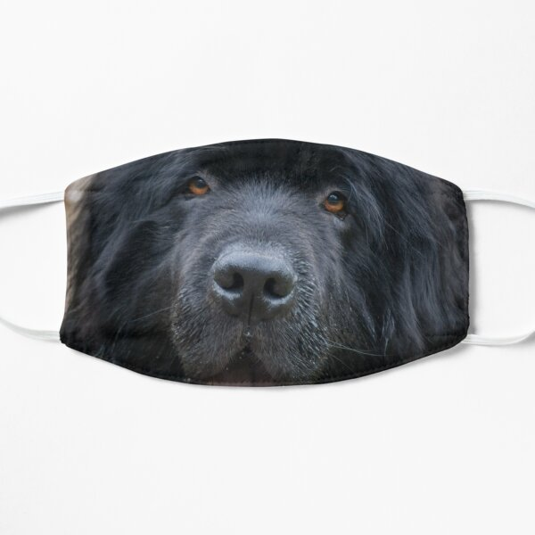Newfoundland Dog Face with Tongue Sticking Out Mask