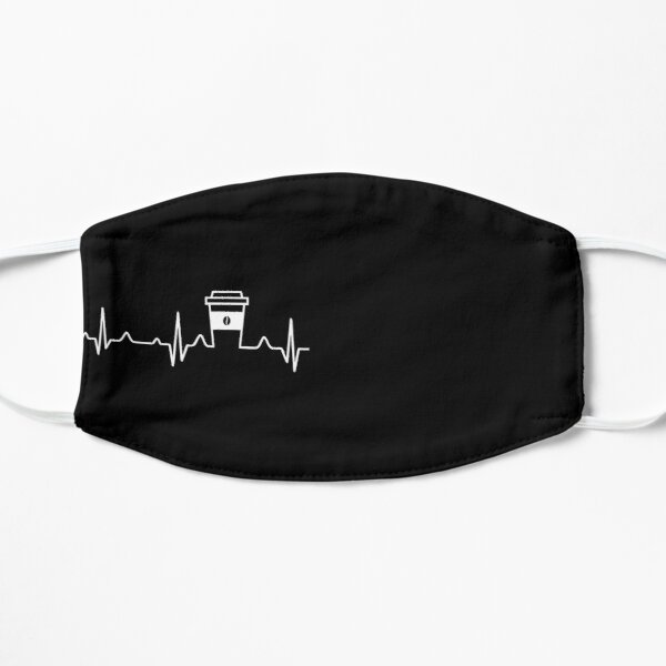 Coffee Heartbeat Coffee Cup Caffeine Lovers Mask