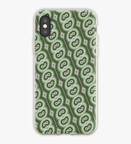 Green retro pattern iPhone case iPhone Case