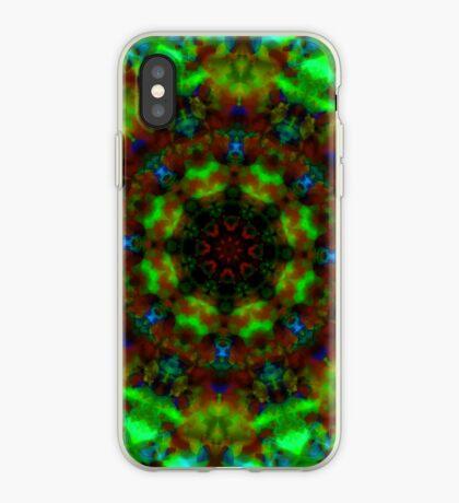 Green lights kaleidoscope pattern iPhone case iPhone Case
