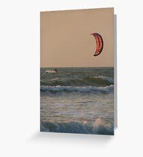 Kitesurfing at Sunset Mandrem Greeting Card