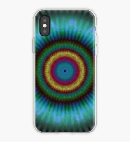 Aqua Pools Mandala pattern iPhone case iPhone Case
