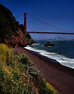 Golden Gate Bridge and San Francisco Skyline by Rodney Johnson