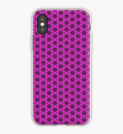 Bright pink flower pattern iPhone case iPhone Case